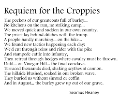 croppies have faith ath seamus heaney requiem for the croppies