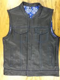 mens club vest blue paisley