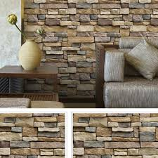 3d vintage brick wallpaper living room waterproof wall sticker home decor decal