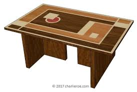 art deco coffee table new art coffee table with marquetry veneered cubist geometric design table top art deco coffee table