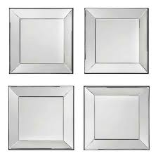 square wall mirror tiles home furnishings decorative mirrors set of 4