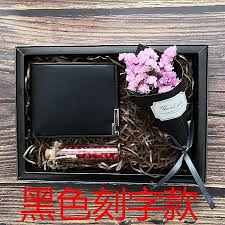 black wallet lettering 2018 summer new send father to send boyfriend birthday holiday creative