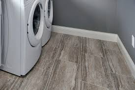 Stone Effect Porcelain Tile In The Upstairs Laundry Room Detail