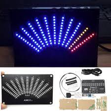 ask11 vu table led spectrum display fan shaped pointer level diy light cubic kit