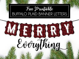 Buffalo Plaid Free Printable Banner Letters Swanky Design