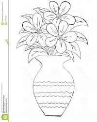 How To Draw A Vase With Designs How To Draw A Beautiful Flower Vase Pictures For Kids To