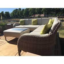 luxor rattan garden modular corner sofa set
