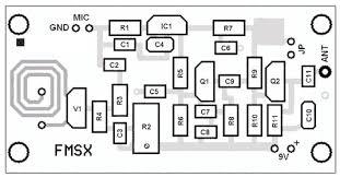 smd fm transmitter circuit smd transmitter layout