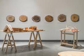 Contemporary art furniture Bench Glimpse Into Maine College Of Arts meca Institute Of Contemporary Art ica Retrospective thos Moser Legacy In Wood The Exhibition Runs Through Boothbay Register Mosers Handmade American Furniture Celebrated Boothbay Register