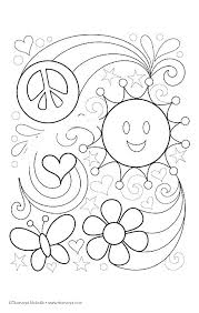 Peace And Love Coloring Pages At Getdrawingscom Free For Personal