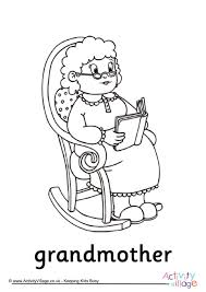 Small Picture Family Colouring Pages