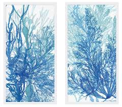 ask question about set of two indigo coral framed wall art on set of two framed wall art with the well appointed house luxuries for the home the well