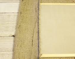 burlap bulletin board top edges