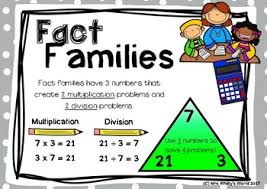 Multiplication Division Fact Family Task Cards