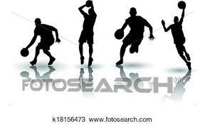 バスケットボール シルエット Vectors クリップアート切り張りイラスト絵画集