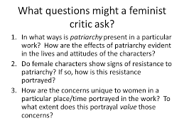 Introduction To Literary Theory Feminist And Gender Criticism Ppt