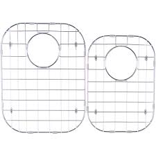Msi Stainless Steel Sink Grid Fits 6040 Double Bowl Sink 31 12x20 12 Set Of 2