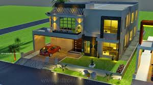 Small Picture 3D Front Elevationcom 1 kanal house drawing