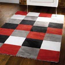 Exellent Red Kitchen Rugs Flair Liberty Glade Check Intended To Simple Ideas
