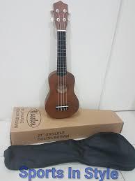 kessler ukelele ukulele brown 21 inch with carrying case