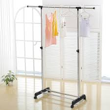 Adjustable Coat Rack IKayaa US UK FR Stock Garment Rack Metal Height Adjustable Clothes 54