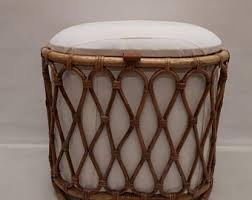 vintage 60s furniture. rattan stoolbasket toy basket storage with vintage 60s furniture