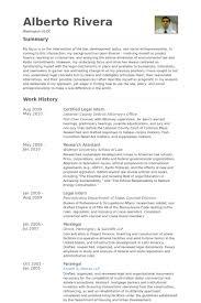 Certified Legal Intern Resume samples