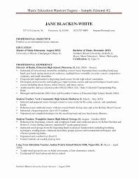 Resume Format For Degree Students New Master Resume Sample Resume