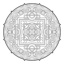 Geometric circle coloring pages for adults - ColoringStar