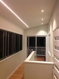 verandah lighting. To Keep The Theme Of Linear Lighting Flowing We Used A Mixture And Down For Internal Staircase. Verandah