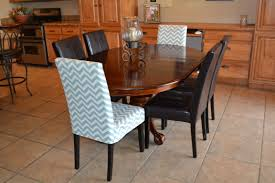 dining room chair covers log cabin floor parson chair slip cover with chevron fabric so easy bedroommarvellous office chairs bones furniture company