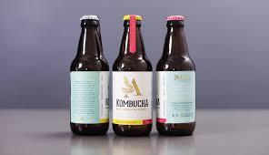 Kombucha Label Design Aina Kombucha On Packaging Of The World Creative Package