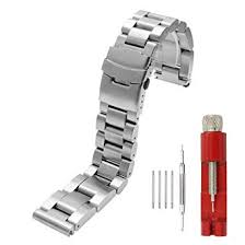 Heavy Strap <b>22 24 26mm</b> Thick 6mm Brushed Solid Stainless Steel ...