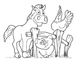 Farm Animals Coloring Pages To Print Coloring Pro