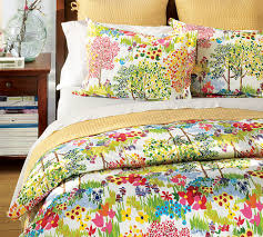 nightstand and pottery barn duvet covers with bed pillows