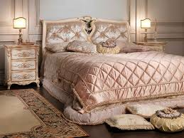 Louis Style Bedroom Furniture Double Bed Louis Xvi Style Wooden White And Gold Vimercati