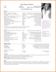 100 Acting Resume Template Download Free Example Of A Basic