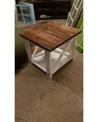 rustic end tables. On Rustic End Tables X Table Farm Style Wooden Furniture B I