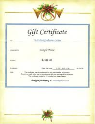 birthday gift certificate template sle gift certificate