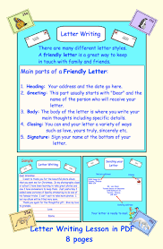 Letter Writing Friendly Business Pdf Writing Lessons Language