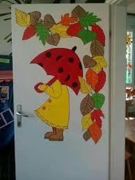 Autumn Door Kita Fensterdeko Herbst Herbst Und Bastelideen Herbst