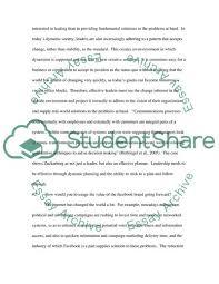 Leadership Essay Example Impressive Fascebook Essay Example Topics And Well Written Essays 48 Words