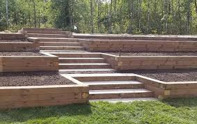 wood and timber retaining wall