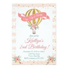 Balloon Birthday Invitations Hot Air Balloon Birthday Invitation Up Up Away Invitation