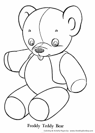 Small Picture Teddy Bear Coloring Pages Stuffed Teddy Bear Coloring sheet