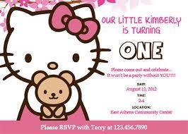 Free Hello Kitty Invitation Template Ceosocialbootcamp Com