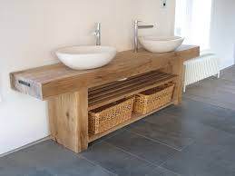wooden bathroom furniture as well as vanity unit wash stand sink basin solid oak bespoke rustic finish with regard to encourage your room ideas