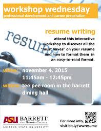 Resume Writing Workshop Resume Templates