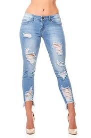 Vip Jeans Size Chart V I P Jeans Womens Plus Size Ripped Distressed Torn Hem