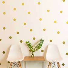 presyo ng 44pcs 5cm polka dots gold wall decals sticker nursery kids rooms children removable wall